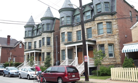 A set of newly refinished duplexes in East Liberty.