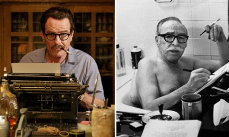 Film composite. Left: film still of Bryan Cranston as Dalton Trumbo in Trumbo. Right: Dalton Trumbo. Credit: Allstar/SAMUEL GOLDWYN FILMS