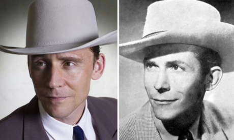 Tom Hiddleston as Hank Williams in I Saw the Light.  Right: Hank Williams - credit: Getty.