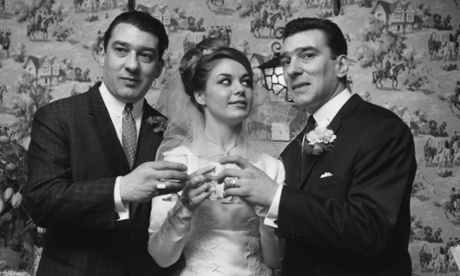 Frances Shea, after getting married to Reggie Kray, right.