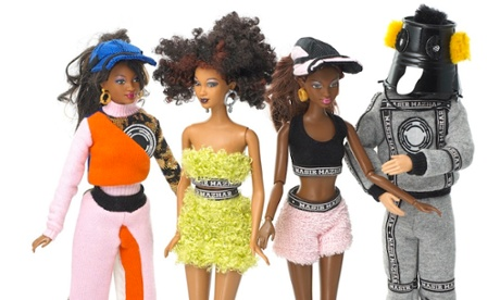 Streetwear designer Nasir Mazhar's take featured ethnically diverse dolls and a Ken with a bucket on his head.