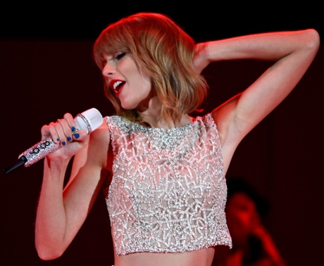 Singer Taylor Swift performs during CBS Radio's We Can Survive at the Hollywood Bowl