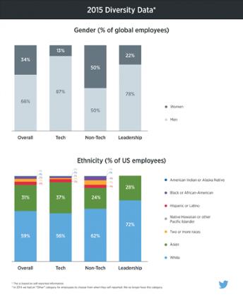 Twitter's diversity data in 2015.