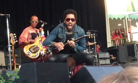 Lenny Kravitz: how easy is it to rip leather trousers?
