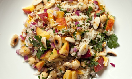 Nigel Slater's chickpea and nectarine couscous recipe