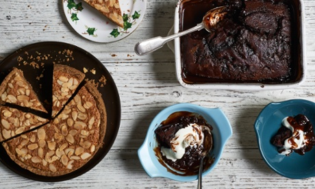 Recipes for self-saucing chocolate pudding and bakewell tart