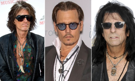 See Johnny Depp shred as he lays down a solo with Hollywood Vampires