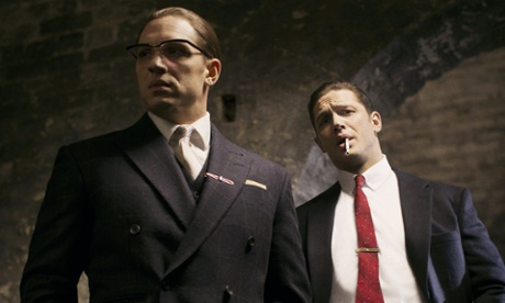 Legend: Tom Hardy's double take dilutes the story of the Kray twins