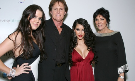 Khloe, left, and Kim Kardashian, second right, with their parents. The family were stars of their own reality TV show, Keeping up with the Kardashians.