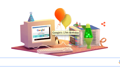 When is Google's birthday? 17th anniversary doodle recalls 'humble beginnings'