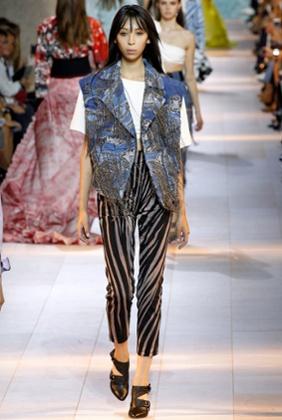 Zebra stripes at Roberto Cavalli, Milan Fashion Week SS2016.