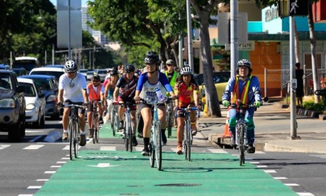 Honolulu solves traffic – with protected bike lanes