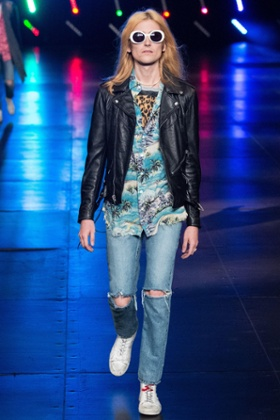 Kurt Cobain clearly influenced Saint Laurent's SS16 show at Paris men's fashion week.
