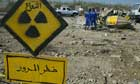 A danger sign outside the Tuwaitha nuclear facility, south of Baghdad
