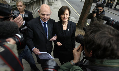 Sharon Shoesmith leaves the High Court in London