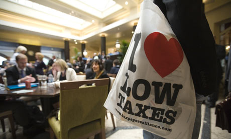Taxpayers' Alliance bag at Conservative conference