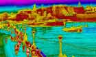 A thermal image of the view from Tower Bridge