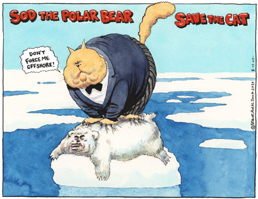 08.12.09: Steve Bell on saving the fat cats