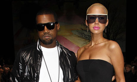 amber rose with hair pictures. Kanye West and Amber Rose