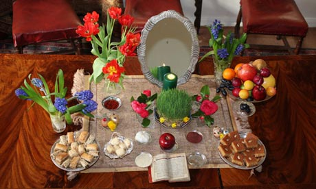The Nowruz table is the festival's symbolic centre
