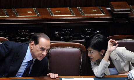 Berlusconi with Mara Carfagna