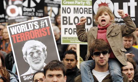 Anti-war demonstration in London in 2008