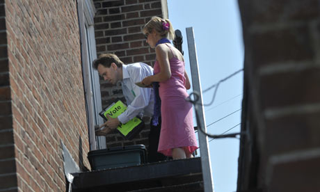 Green Party candidate Rupert Read canvassing in Norwich