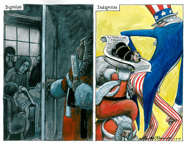 Martin Rowson cartoon - McKinnon should be extradited, court rules