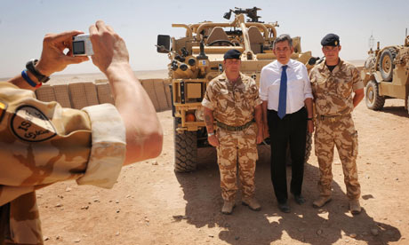 Gordon Brown in Afghanistan