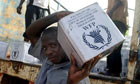 Food aid arrives in Niger