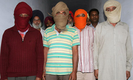 Alleged ISI spies paraded by India earlier this year