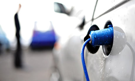 Electric car recharging points