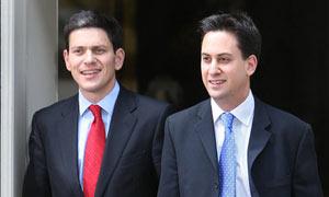 David (left) and Ed Miliband