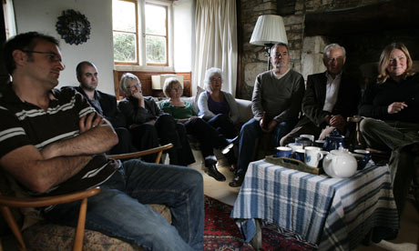 Wiltshire villagers watch David Cameron's speech
