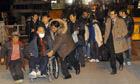 South Korean residents of Yeonpyeong island