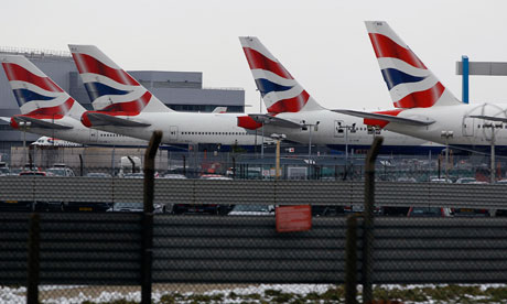 BA aeroplanes at Heathrow airport