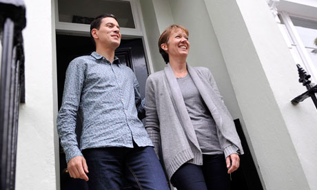 David Miliband with his wife