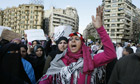 Egyptian demonstrators gather at Tahrir