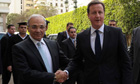 David Cameron and Egypt's Ahmed Shafik