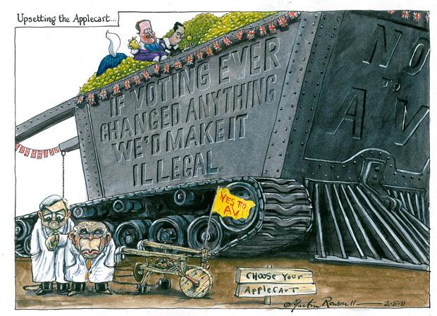 02.05.2011: Martin Rowson on the electoral reform vote