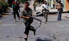 Libyan rebels in Zawiyah