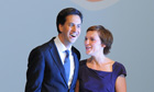 Ed Miliband and his wife Justine after his conference speech