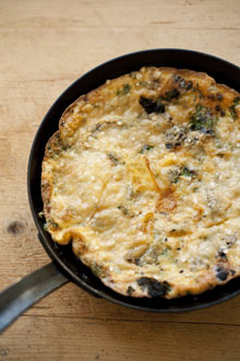 A frittata of black pudding