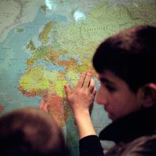 Afghan child refugees
