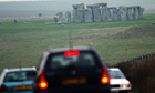 Busy road by Stonehenge