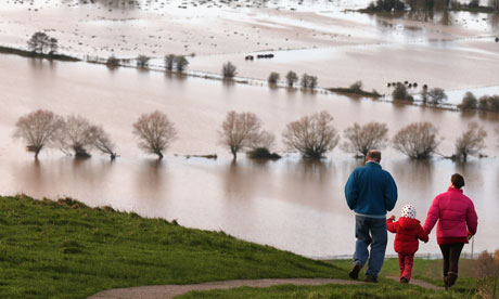Flooding at Glastonbury Tor
