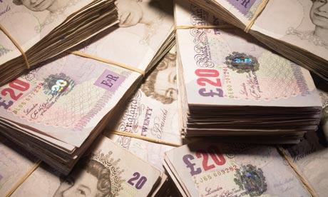 Twenty pounds notes