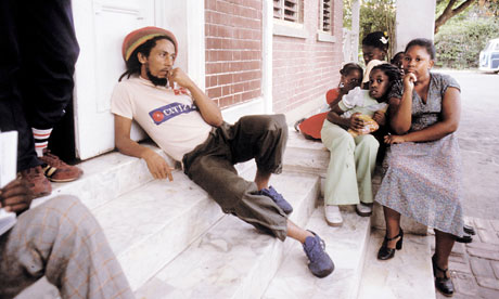 Bob Marley in Kingston, Jamaica, 1980