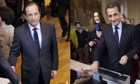 Hollande and Sarkozy