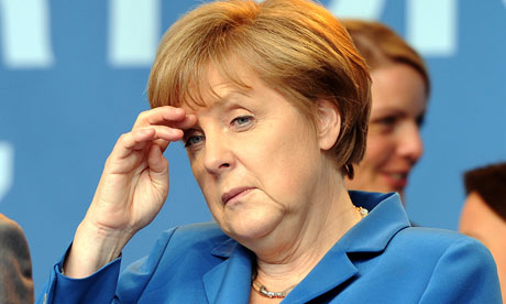 EU leaders set for showdown on fate of euro as crisis deepens  Angela Merkel and François Hollande to have first face-to-face talks in Berlin after eurozone finance ministers meet in Brussels